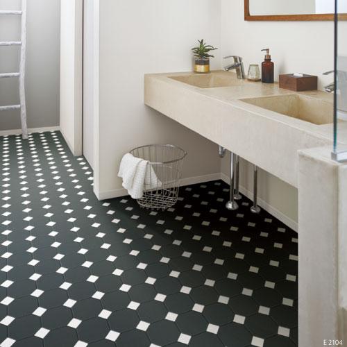 洗面所等にタイル柄の床