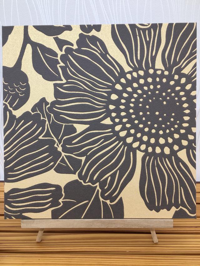 花柄ファブリックパネル